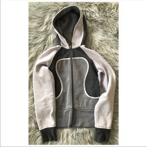 LULULEMON Gray Color-Block Scuba Hoodie